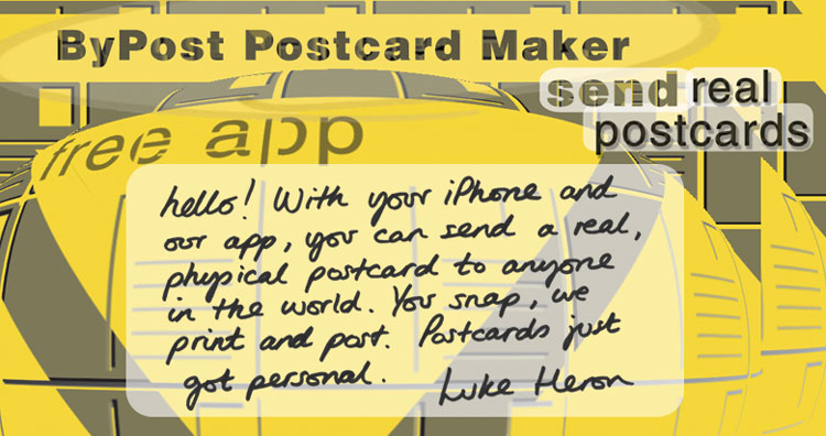 ByPost Postcard Maker iOS App